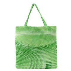 Wave Concentric Circle Green Grocery Tote Bag