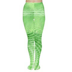 Wave Concentric Circle Green Tights
