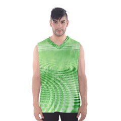 Wave Concentric Circle Green Men s Sportswear by HermanTelo