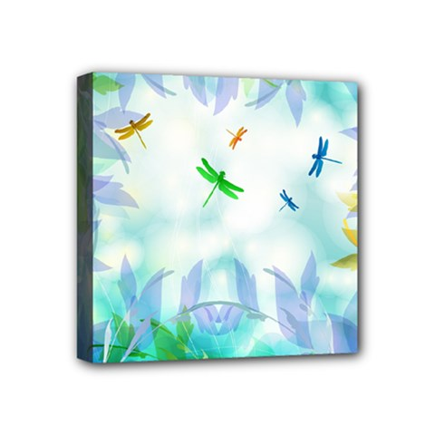 Scrapbooking Tropical Pattern Mini Canvas 4  x 4  (Stretched)