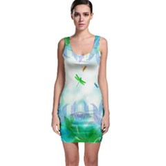 Scrapbooking Tropical Pattern Bodycon Dress