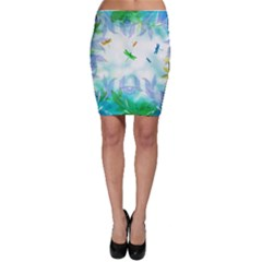 Scrapbooking Tropical Pattern Bodycon Skirt