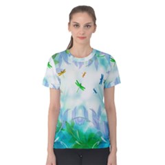 Scrapbooking Tropical Pattern Women s Cotton Tee by HermanTelo