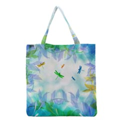 Scrapbooking Tropical Pattern Grocery Tote Bag