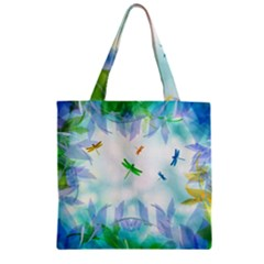 Scrapbooking Tropical Pattern Zipper Grocery Tote Bag