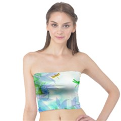 Scrapbooking Tropical Pattern Tube Top