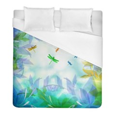 Scrapbooking Tropical Pattern Duvet Cover (Full/ Double Size)