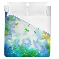 Scrapbooking Tropical Pattern Duvet Cover (Queen Size)