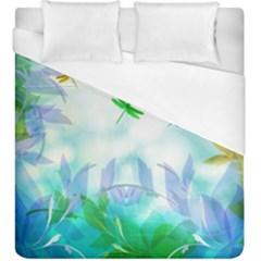 Scrapbooking Tropical Pattern Duvet Cover (King Size)