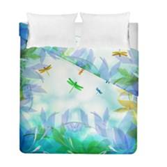 Scrapbooking Tropical Pattern Duvet Cover Double Side (Full/ Double Size)