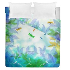 Scrapbooking Tropical Pattern Duvet Cover Double Side (Queen Size)