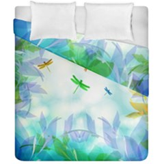 Scrapbooking Tropical Pattern Duvet Cover Double Side (California King Size)