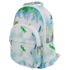 Scrapbooking Tropical Pattern Rounded Multi Pocket Backpack
