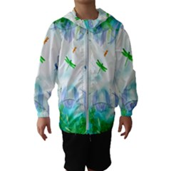 Scrapbooking Tropical Pattern Kids  Hooded Windbreaker