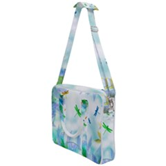 Scrapbooking Tropical Pattern Cross Body Office Bag