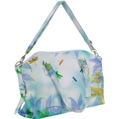 Scrapbooking Tropical Pattern Canvas Crossbody Bag by HermanTelo