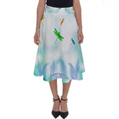 Scrapbooking Tropical Pattern Perfect Length Midi Skirt