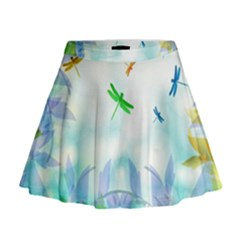 Scrapbooking Tropical Pattern Mini Flare Skirt