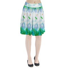 Scrapbooking Tropical Pattern Pleated Skirt