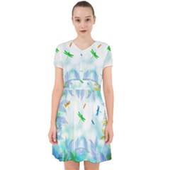 Scrapbooking Tropical Pattern Adorable in Chiffon Dress