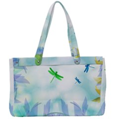 Scrapbooking Tropical Pattern Canvas Work Bag