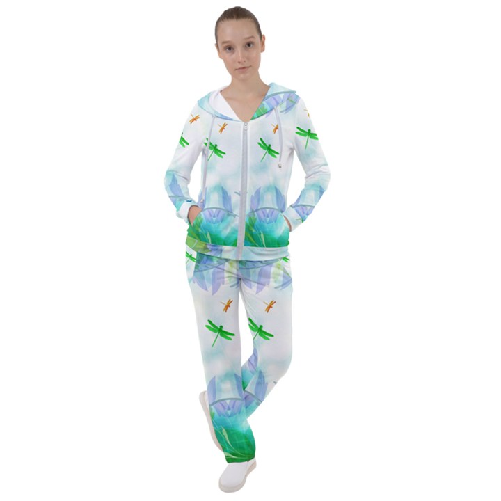 Scrapbooking Tropical Pattern Women s Tracksuit