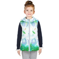 Scrapbooking Tropical Pattern Kids  Hooded Puffer Vest