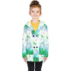 Scrapbooking Tropical Pattern Kids  Double Breasted Button Coat