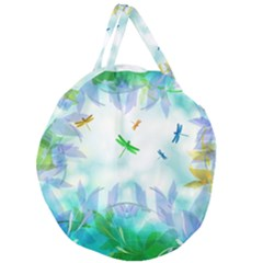Scrapbooking Tropical Pattern Giant Round Zipper Tote
