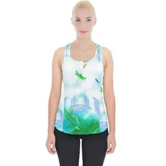 Scrapbooking Tropical Pattern Piece Up Tank Top by HermanTelo
