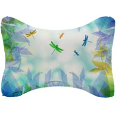 Scrapbooking Tropical Pattern Seat Head Rest Cushion