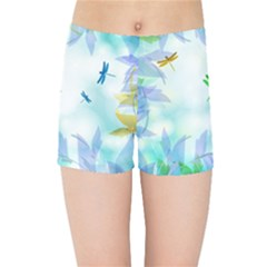 Scrapbooking Tropical Pattern Kids  Sports Shorts