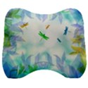Scrapbooking Tropical Pattern Velour Head Support Cushion View1