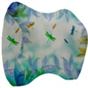 Scrapbooking Tropical Pattern Velour Head Support Cushion View3