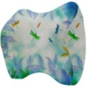 Scrapbooking Tropical Pattern Velour Head Support Cushion View4