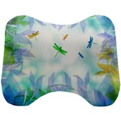Scrapbooking Tropical Pattern Head Support Cushion