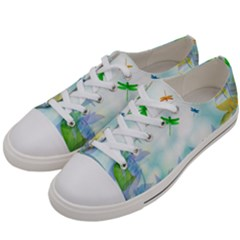 Scrapbooking Tropical Pattern Women s Low Top Canvas Sneakers