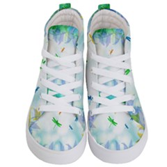 Scrapbooking Tropical Pattern Kids  Hi Top Skate Sneakers