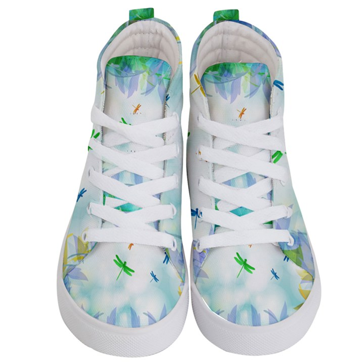 Scrapbooking Tropical Pattern Kids  Hi-Top Skate Sneakers