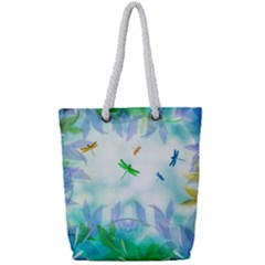 Scrapbooking Tropical Pattern Full Print Rope Handle Tote (Small)