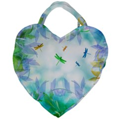 Scrapbooking Tropical Pattern Giant Heart Shaped Tote