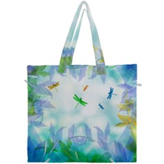 Scrapbooking Tropical Pattern Canvas Travel Bag