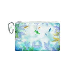 Scrapbooking Tropical Pattern Canvas Cosmetic Bag (Small)