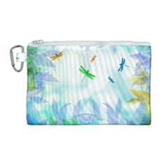 Scrapbooking Tropical Pattern Canvas Cosmetic Bag (Large)