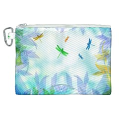 Scrapbooking Tropical Pattern Canvas Cosmetic Bag (XL)