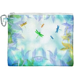 Scrapbooking Tropical Pattern Canvas Cosmetic Bag (XXXL)