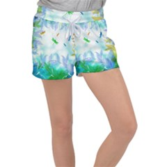 Scrapbooking Tropical Pattern Women s Velour Lounge Shorts