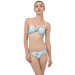Scrapbooking Tropical Pattern Classic Bandeau Bikini Set by HermanTelo