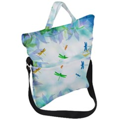 Scrapbooking Tropical Pattern Fold Over Handle Tote Bag