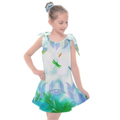 Scrapbooking Tropical Pattern Kids  Tie Up Tunic Dress